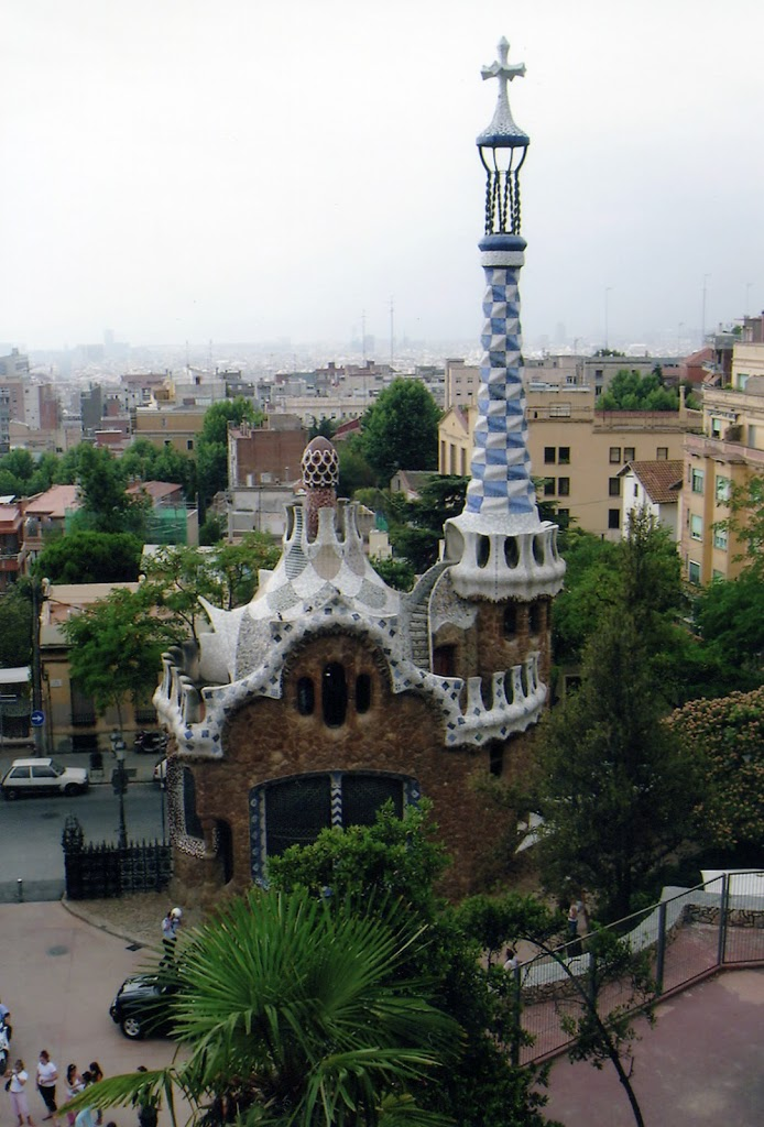 Roofs, Towers and Balconies in Gaudi's Barcelona
